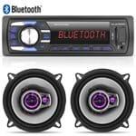 Kit 02 Alto Falantes 5 Pioneer + Radio Mp3 Player Bluetooth Multilaser USB