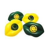 Apito Boquinha Amarelo e Verde - Pacote com 12 Unidades