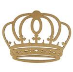 Aplique Coroa Arredondada em MDF 10x7,8cm - Palácio da Arte