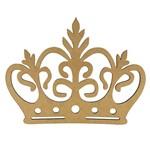 Aplique Coroa com Ramos em MDF 25x19cm - Palácio da Arte