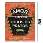 Aplique de MDF e Papel - Amor Principal Tempero de Todos os Pratos APM8 - 759