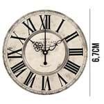 Aplique de MDF e Papel - Relógio APM8 - 1070