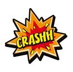 Aplique Decoupage 7x7cm Crashh! LMAM-024 - Litocart