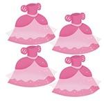 Aplique Decoupage em Papel e Mdf Vestido Rosa Apm3-179 - Litoarte