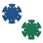 Aplique Decoupage Litoarte APM4-304 em Papel e MDF 4cm Fichas Poker Azul e Verde