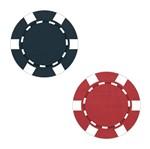 Aplique Decoupage Litoarte APM4-305 em Papel e MDF 4cm Fichas Poker Vermelho e Preto