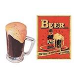 Aplique Decoupage Litoarte APM4-092 em Papel e MDF 4cm Caneco e Cerveja Duff