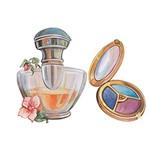 Aplique Decoupage Litoarte APM4-094 em Papel e MDF 4cm Perfume e Sombra