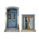 Aplique Decoupage Litoarte APM4-254 em Papel e MDF 4cm Portas e Janelas