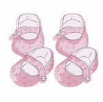 Aplique Decoupage Litoarte APM4-282 em Papel e MDF 4cm Sapato Bebê Rosa