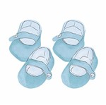 Aplique Decoupage Litoarte APM4-281 em Papel e MDF 4cm Sapatinho Bebê Azul