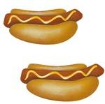 Aplique Decoupage Litoarte APM4-395 em Papel e MDF 4cm Cachorro Quente