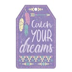 Aplique Decoupage Litoarte APM8-1053 em Papel e MDF 8cm Tag Catch Your Dreams