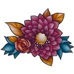 Aplique Decoupage Litoarte APM8-1141 em Papel e MDF 8cm Flores Coloridas