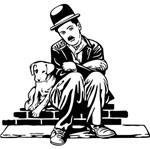 Aplique Decoupage Litoarte APM8-1155 em Papel e MDF 8cm Charlie Chaplin