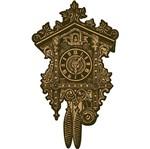 Aplique Decoupage Litoarte APM8-1126 em Papel e MDF 8cm Relógio Antigo