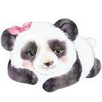 Aplique Decoupage Litoarte APM8-1268 em Papel e MDF 8cm Panda Laço