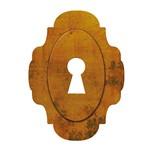 Aplique Decoupage Litoarte APM8-517 em Papel e MDF 8cm Fechadura