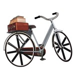 Aplique Decoupage Litoarte APM8-542 em Papel e MDF 8cm Bicicleta Malas