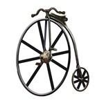 Aplique Decoupage Litoarte APM8-544 em Papel e MDF 8cm Bicicleta Antiga