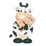 Aplique Decoupage Litoarte APM8-548 em Papel e MDF 8cm Vaca e Porquinho