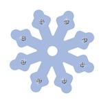 Aplique Decoupage Litoarte APM8-593 em Papel e MDF 8cm Floco de Neve Lilás
