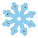 Aplique Decoupage Litoarte APM8-595 em Papel e MDF 8cm Floco de Neve Azul