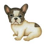 Aplique Decoupage Litoarte APM8-654 em Papel e MDF 8cm Cachorro Bull Dog Francês