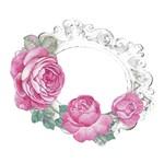 Aplique Decoupage Litoarte APM8-785 em Papel e MDF 8cm Moldura com Rosas