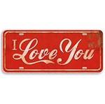 Aplique Decoupage Litoarte APM8-338 em Papel e MDF 8cm I Love You