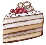 Aplique Decoupage Litoarte APM8-940 em Papel e MDF 8cm Fatia de Torta