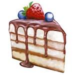 Aplique Decoupage Litoarte APM8-941 em Papel e MDF 8cm Fatia Torta de Fruta