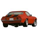 Aplique Decoupage Litoarte APM8-952 em Papel e MDF 8cm Carro Antigo Vermelho