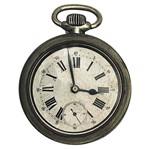 Aplique Decoupage Litoarte APM8-959 em Papel e MDF 8cm Relógio Bolso Vintage