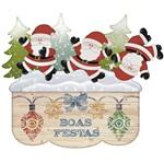 Aplique Decoupage Litoarte APMN10-005 em Papel e MDF 10cm Papai Noel