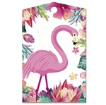 Aplique Decoupage Litocart LMAM-089 em Papel e MDF 7cm Tag Flamingo