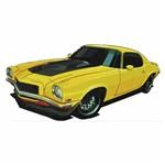 Aplique Decoupage Litocart LMAPC-423 em Papel e MDF 10cm Carro Amarelo