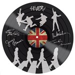 Aplique Decoupage Litocart LMAPC-415 em Papel e MDF 10cm Disco Vinil The Beatles