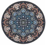 Aplique Decoupage Litocart LMAPC-417 em Papel e MDF 10cm Mandala Floral