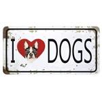 Aplique Decoupage Litocart LMAPC-444 em Papel e MDF 10cm I Love Dogs