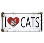Aplique Decoupage Litocart LMAPC-445 em Papel e MDF 10cm I Love Cats