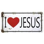Aplique Decoupage Litocart LMAPC-446 em Papel e MDF 10cm I Love Jesus