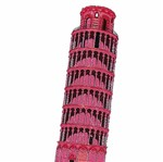 Aplique Decoupage Litocart LMAPC-429 em Papel e MDF 10cm Torre de Pisa