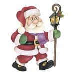 Aplique Decoupage Natal Litoarte APMN20-013 em Papel e MDF 20cm Papai Noel com Luminária