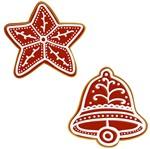 Aplique Decoupage Natal Litoarte APMN4-021 em Papel e MDF 4cm Biscoito