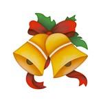 Aplique Decoupage Natal Litoarte APMN8-001 em Papel e MDF 8cm Sinos