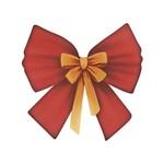 Aplique Decoupage Natal Litoarte APMN8-131 em Papel e MDF Laço
