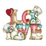 Aplique Decoupage Recorte Mdf Ursinhos Love Lmapc-388 - Litocart