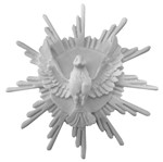 Aplique Divino Espírito Santo com Resplendor 9,5x9,5x2,5cm - Resina