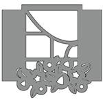 Aplique em Chipboard Scrap Formas Cardboard Janela Sfc6-004 Litoarte